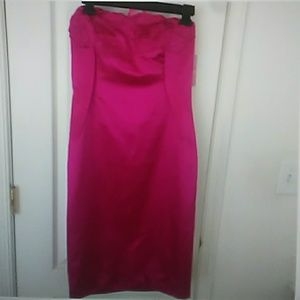 Vivienne Tam Magenta silk bustier dress size 6